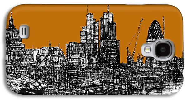 Architecture Framed Prints Galaxy S4 Cases - Orange London skies Galaxy S4 Case by Lee-Ann Adendorff
