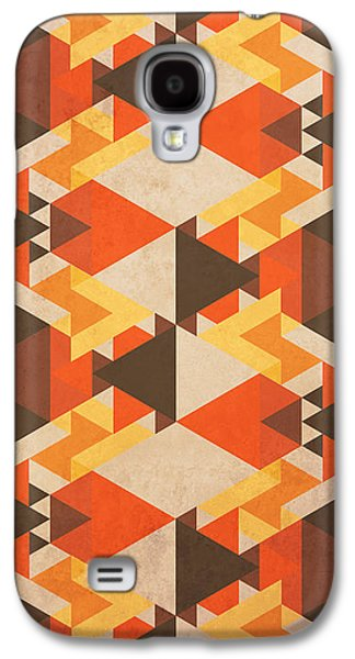 Nature Abstract Galaxy S4 Cases - Orange Maze Galaxy S4 Case by VessDSign