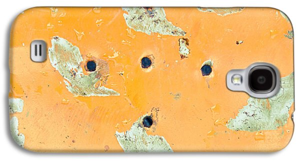Water Filter Galaxy S4 Cases - Orange metal Galaxy S4 Case by Tom Gowanlock