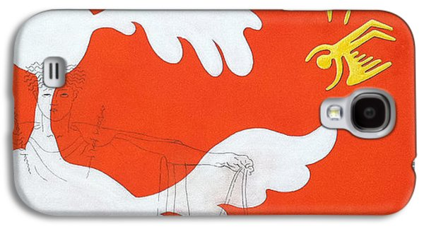 Bono Paintings Galaxy S4 Cases - Orange Palm Springs Idyll Galaxy S4 Case by Stan Magnan