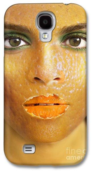 Photo Manipulation Photographs Galaxy S4 Cases - Orange Woman Galaxy S4 Case by Diane Diederich