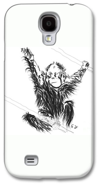Orangutan Baby Galaxy S4 Case by Go Van Kampen