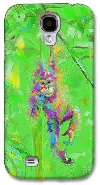 Orangutan Baby In Color Galaxy S4 Case by Go Van Kampen
