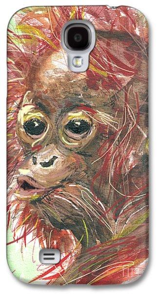 orangutan Sammy Galaxy S4 Case by Go Van Kampen