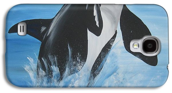 Catherine White Paintings Galaxy S4 Cases - Orca Galaxy S4 Case by Cathy Jacobs
