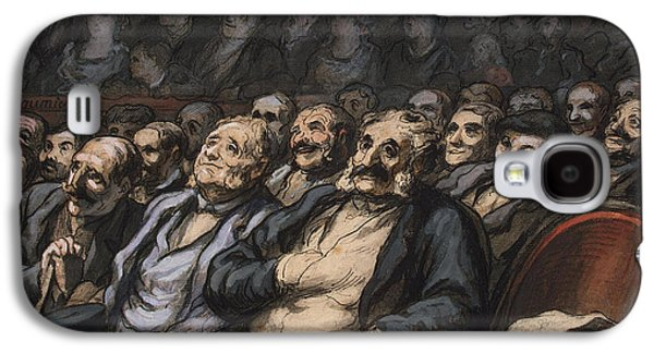 Chair Drawings Galaxy S4 Cases - Orchestra Seat Galaxy S4 Case by Honore Daumier