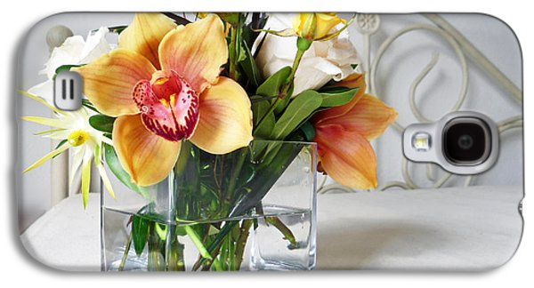 Botanical Galaxy S4 Cases - Orchid Bouquet Galaxy S4 Case by Irina Sztukowski