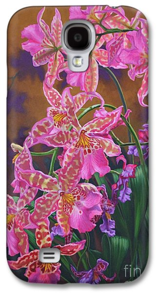 Epiphyte Galaxy S4 Cases - Orchid Fever 3 Miltonia Galaxy S4 Case by Fiona Craig