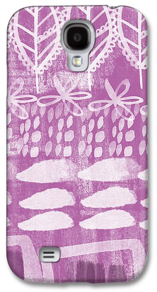 Abstract Landscape Galaxy S4 Cases - Orchid Fields Galaxy S4 Case by Linda Woods