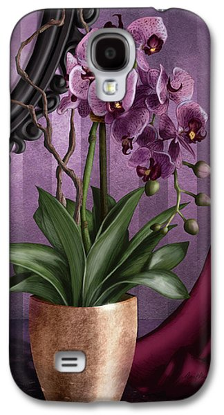 Hammer Galaxy S4 Cases - Orchid I Galaxy S4 Case by April Moen