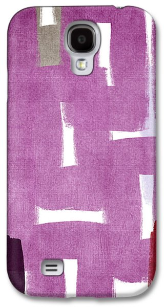 Red White And Blue Mixed Media Galaxy S4 Cases - Orchids In The Window Galaxy S4 Case by Linda Woods