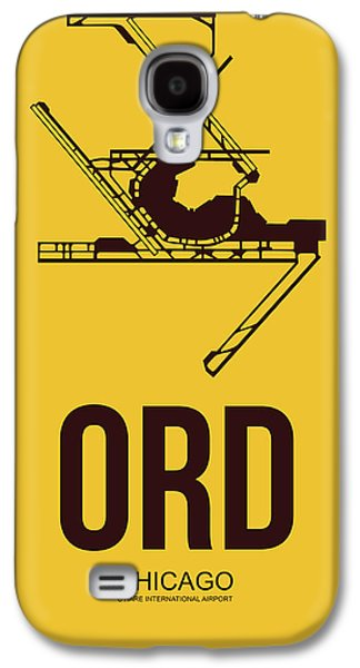 Midwest Galaxy S4 Cases - ORD Chicago Airport Poster 1 Galaxy S4 Case by Naxart Studio