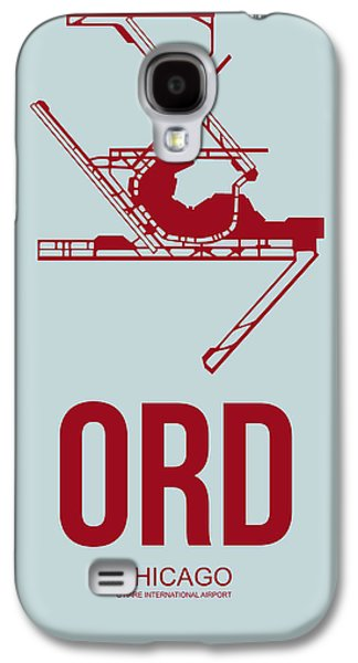 Midwest Galaxy S4 Cases - ORD Chicago Airport Poster 3 Galaxy S4 Case by Naxart Studio