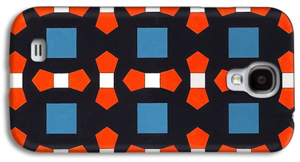 Geometric Shape Galaxy S4 Cases - Order In Space, 2008 Acrylic On Canvas Board Galaxy S4 Case by Peter McClure