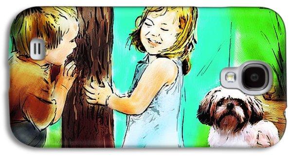 Puppy Digital Art Galaxy S4 Cases - Ordinary Enlightenment Galaxy S4 Case by Richard Okun