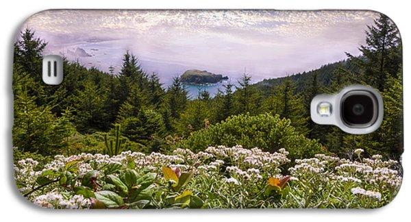 Beach Landscape Galaxy S4 Cases - Oregon Coastline Galaxy S4 Case by Debra and Dave Vanderlaan