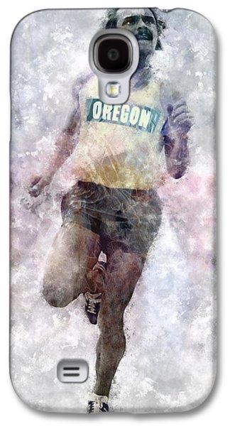 Nike Digital Art Galaxy S4 Cases - Oregon Ducks Steve Prefontaine Galaxy S4 Case by Daniel Hagerman