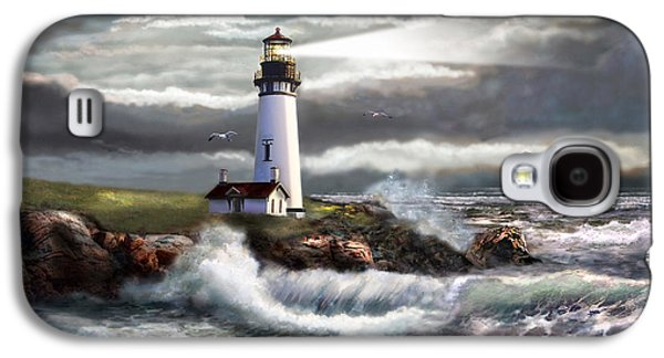 Scenic Galaxy S4 Cases - Oregon Lighthouse Beam of hope Galaxy S4 Case by Gina Femrite