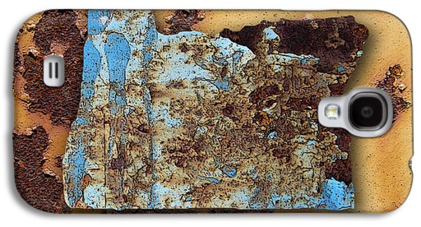 Orange Galaxy S4 Cases - Oregon Map Galaxy S4 Case by Marvin Blaine