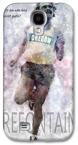 Nike Digital Art Galaxy S4 Cases - Oregon Running Legend Steve Prefontaine Galaxy S4 Case by Daniel Hagerman