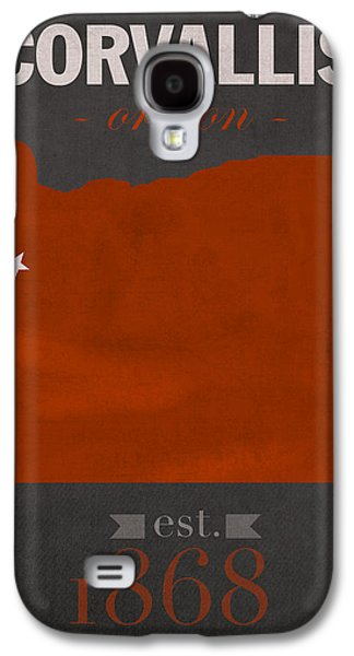 Universities Mixed Media Galaxy S4 Cases - Oregon State University Beavers Corvallis College Town State Map Poster Series No 087 Galaxy S4 Case by Design Turnpike