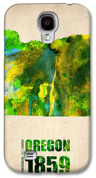 Universities Digital Art Galaxy S4 Cases - Oregon Watercolor Map Galaxy S4 Case by Naxart Studio