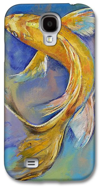 Orenji Butterfly Koi Galaxy S4 Case by Michael Creese