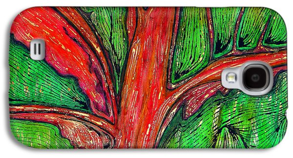 Indian Ink Mixed Media Galaxy S4 Cases - Organic Galaxy S4 Case by Carla Sa Fernandes