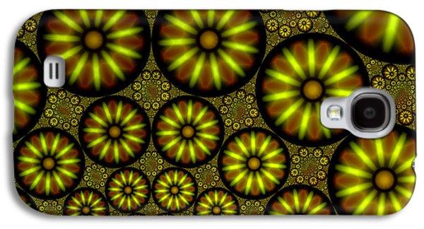 Plankton Digital Galaxy S4 Cases - Organic Green Galaxy S4 Case by Hakon Soreide