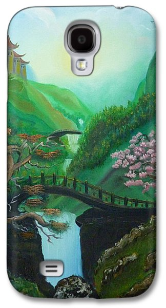 Angel Mermaids Ocean Galaxy S4 Cases - Orient Spring Galaxy S4 Case by Samira Butt