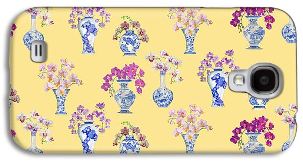 Oriental Vases With Orchids Galaxy S4 Case by Kimberly McSparran