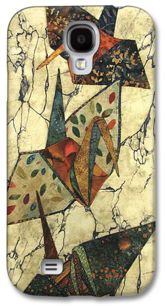 Nature Abstracts Tapestries - Textiles Galaxy S4 Cases - Origami Cranes Galaxy S4 Case by Lynda K Boardman