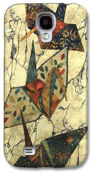 Nature Abstract Tapestries - Textiles Galaxy S4 Cases - Origami Cranes Galaxy S4 Case by Lynda K Boardman