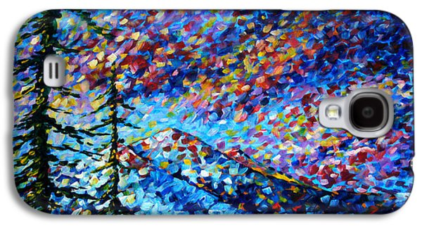 Abstract Print Galaxy S4 Cases - Original Abstract Impressionist Landscape Contemporary Art by MADART Mountain Glory Galaxy S4 Case by Megan Duncanson