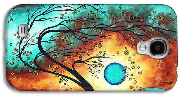 Baby Bird Galaxy S4 Cases - Original Bold Colorful Abstract Landscape Painting FAMILY JOY II by MADART Galaxy S4 Case by Megan Duncanson