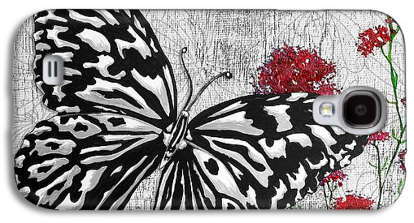 Change Paintings Galaxy S4 Cases - Original Inspirational Uplifting Butterfly Painting Celebrate Life Galaxy S4 Case by Megan Duncanson