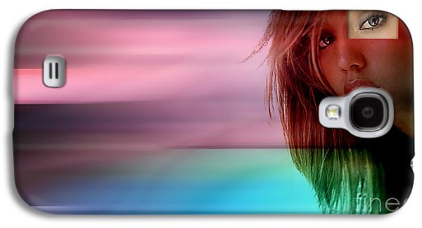 Jessica Alba Galaxy S4 Cases - Original Jessica Alba Painting Galaxy S4 Case by Marvin Blaine