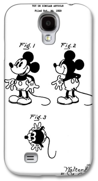 Mouse Digital Art Galaxy S4 Cases - Original Mickey Mouse Patent Galaxy S4 Case by Dan Sproul