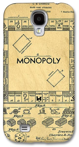 Original Patent For Monopoly Board Game Galaxy S4 Case by Edward Fielding