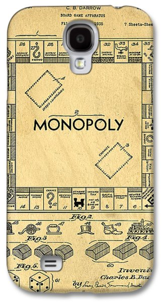 Game Galaxy S4 Cases - Original Patent for Monopoly Board Game Galaxy S4 Case by Edward Fielding