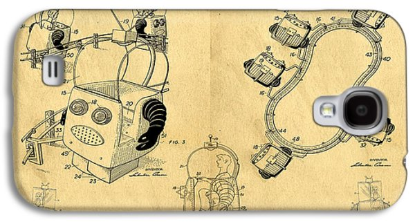 Fun Drawings Galaxy S4 Cases - Original Patent for Robot Amusement Park Ride Galaxy S4 Case by Edward Fielding