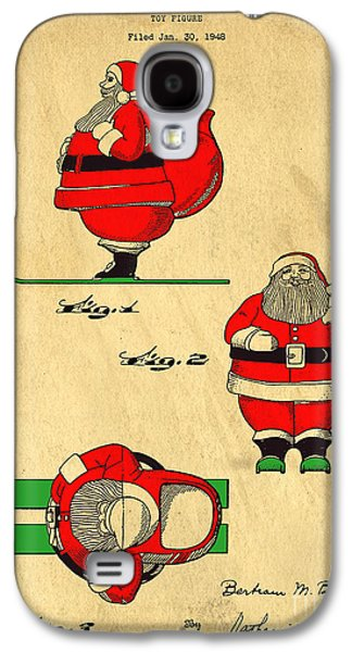 Original Patent For Santa On Skis Figure Galaxy S4 Case by Edward Fielding