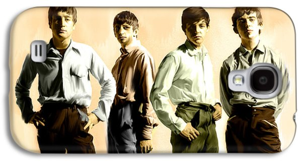 Original Punk IIi  The Beatles  Galaxy S4 Case by Iconic Images Art Gallery David Pucciarelli