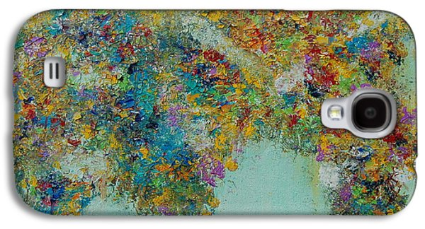 Macrocosm Paintings Galaxy S4 Cases - ORIGINAL SOLD PRINTS AVAILABLE Worldly Flowers Galaxy S4 Case by Sara Gardner