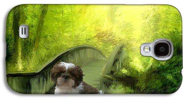 Puppy Digital Art Galaxy S4 Cases - Originality Galaxy S4 Case by Richard Okun