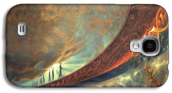 Stellar Paintings Galaxy S4 Cases - Origins Galaxy S4 Case by Lucy West