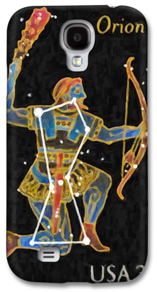 Constellations Paintings Galaxy S4 Cases - Orion Galaxy S4 Case by Lanjee Chee