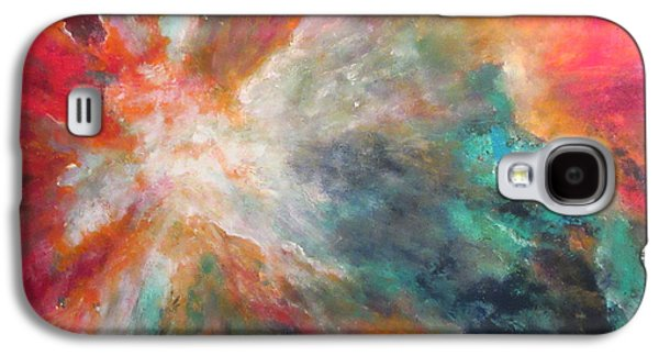 Constellations Paintings Galaxy S4 Cases - Orion Nebula after ST Sc I Hubble NASA Galaxy S4 Case by Margaret Niven