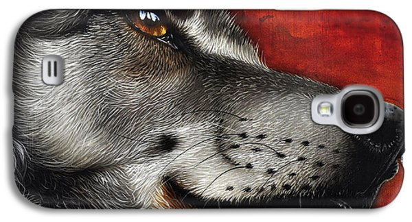 Portraiture Galaxy S4 Cases - Orion Wolf Galaxy S4 Case by Jurek Zamoyski