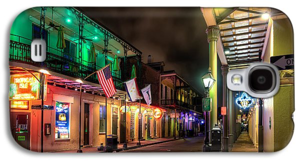Louisiana Photographs Galaxy S4 Cases - Orleans and Bourbon Galaxy S4 Case by Tim Stanley
